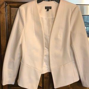 Top shop white blazer